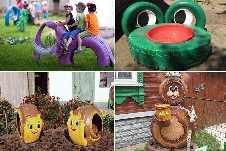 Hermosa idea para decorar tu jard n reciclaje pinterest - Ideas para decorar tu jardin ...
