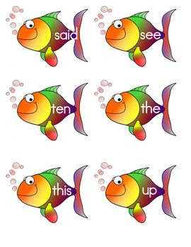 Sight word fish kindergarten for How do you play go fish