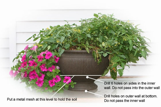 Diy self watering container gardening and yard ideas pinterest - Diy self watering container garden ...