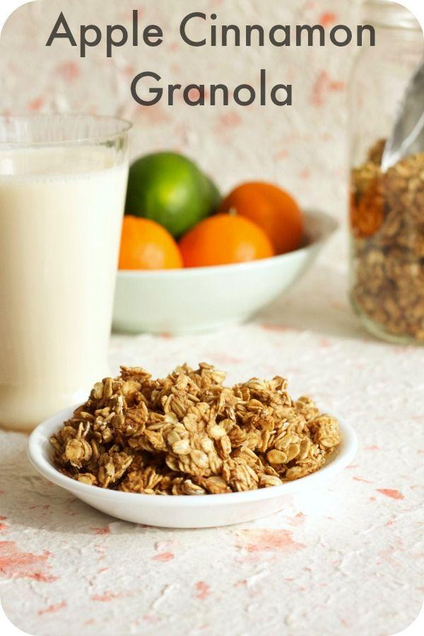 Apple Cinnamon Granola   Vegan Granola Recipes   Pinterest