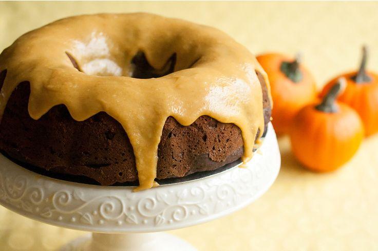 Gojee - Iced Pumpkin Chocolate Spice Bundt Cake by Crumb