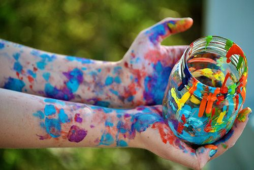 Love looking down and realizing how much paint I have on ME!