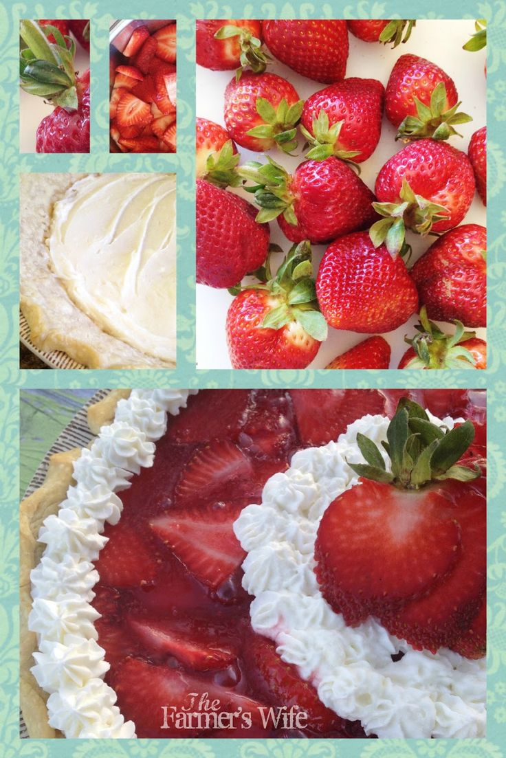 The Farmer's Wife: Fresh Strawberry Pie with cream cheese layer!
