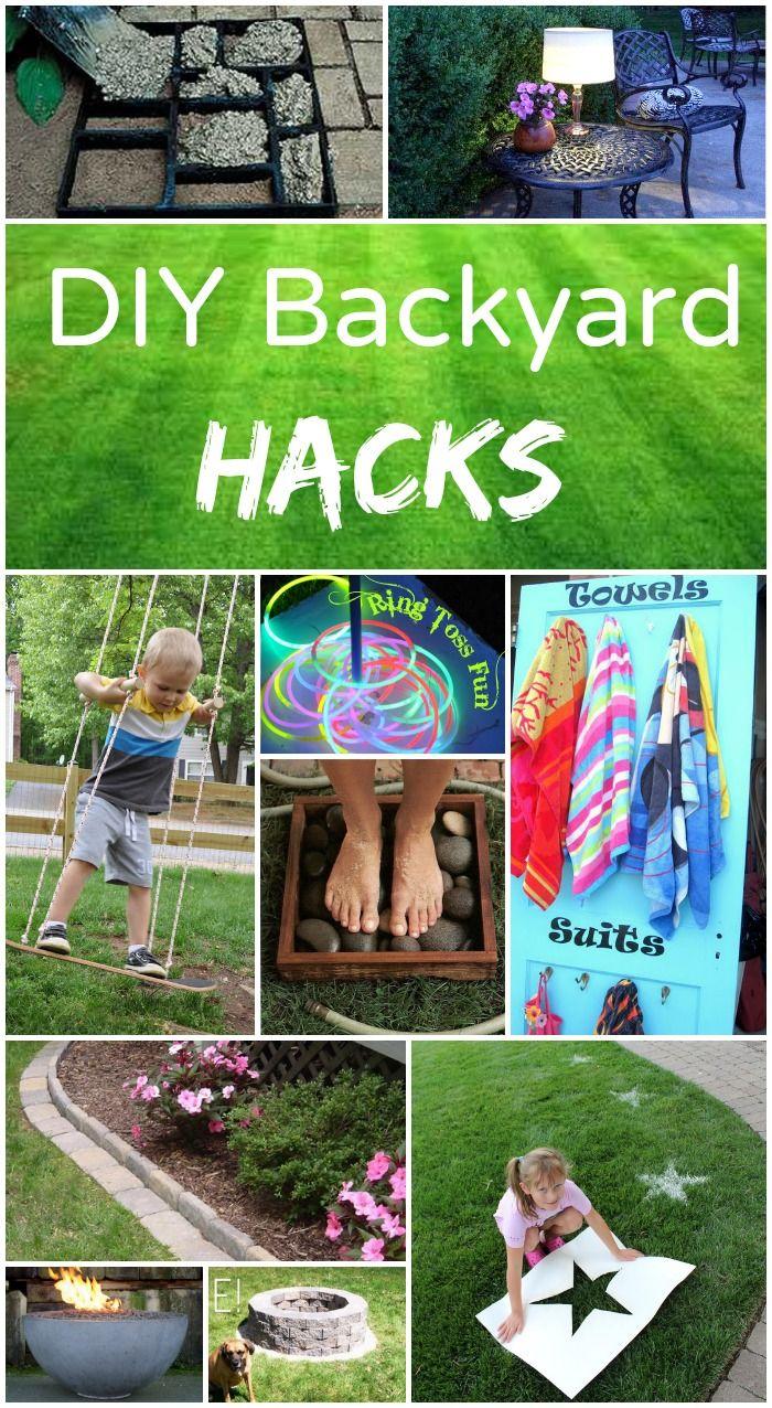 DIY Backyard hacks - Easy and fun backyard projects!