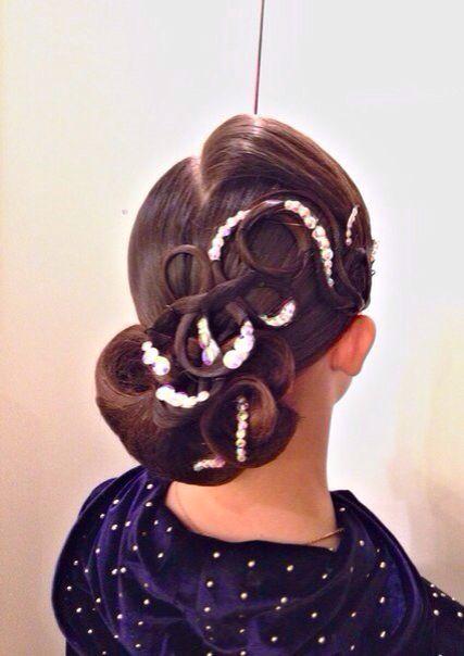 banana peel hairstyle : Ballroom#Hairstyle Ballroom Hairstyles & Makeup Pinterest