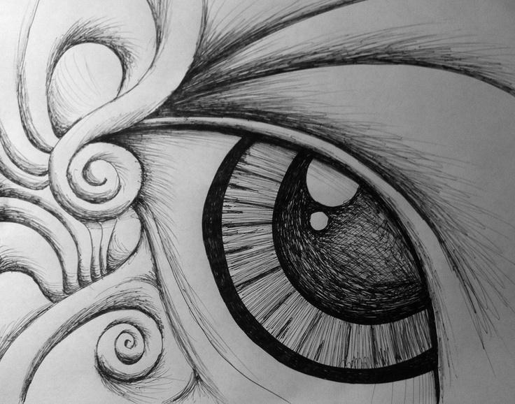 Eye flower art sketch drawing graphite drawings pinterest