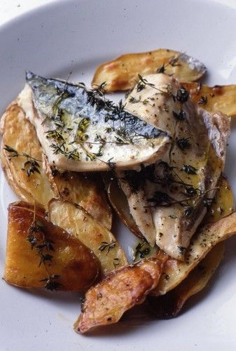 ... - Recipes - Roast Mackerel with Sherry Vinegar, Potatoes and Thyme