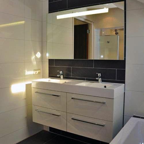 moderne badkamer in grijs en wit  Inspiratie  Pinterest~ Grijs Witte Badkamer