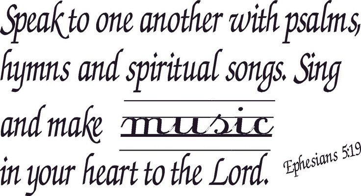 music to the Lord