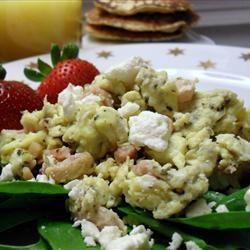 Ham, Basil and Feta Scrambled Eggs | Food | Pinterest