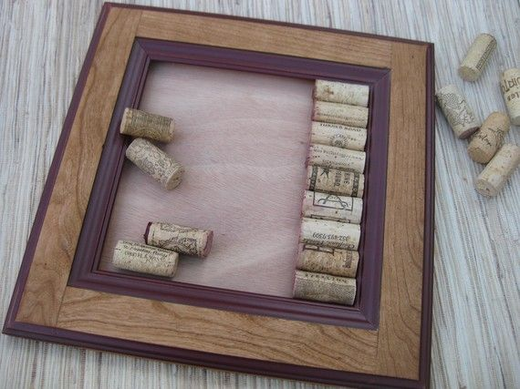 Diy wine cork bulletin board kit made from reclaimed wood