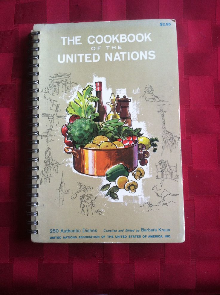 Cookbook of the United Nations is best source for creating an international buffet. 1964