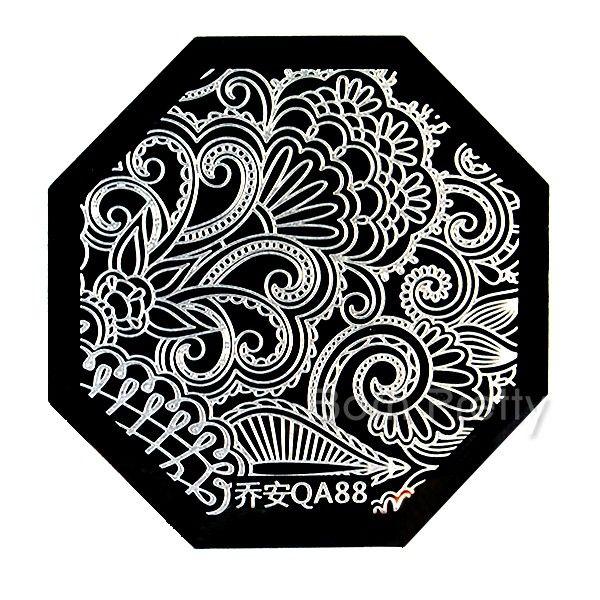 $2.39 Nail Art Stamp Template Quirky Arabesque Pattern QA88 - BornPrettyStore.com