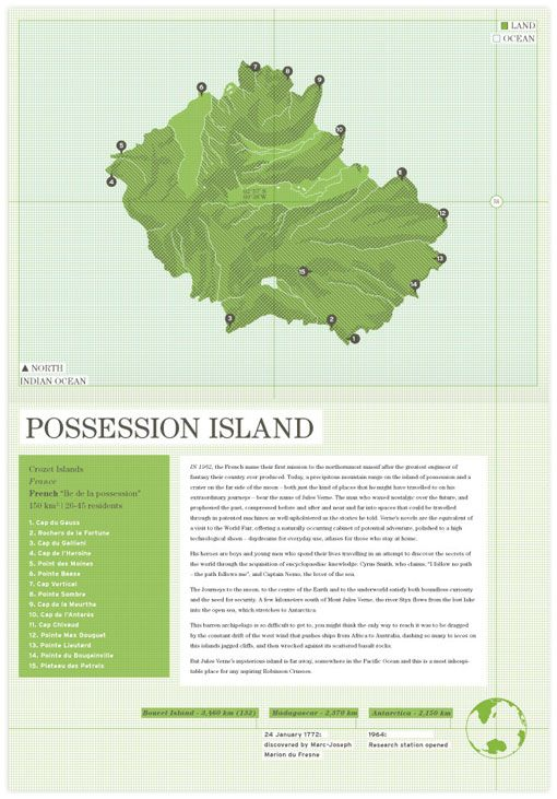 Trent Edwards: Atlas of Remote Islands Redesign