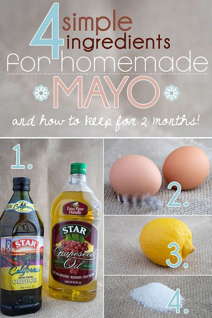 Homemade Mayonnaise using Extra Virgin Olive Oil