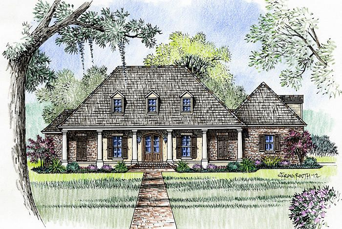 Madden home design the williamsburg southern charm for Williamsburg house plans