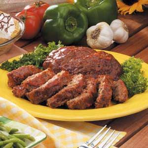 Grilled Meat Loaf - from Taste of Home. Terrific addition to grilling ...