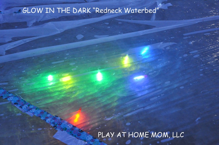 Glowing waterbed for kids