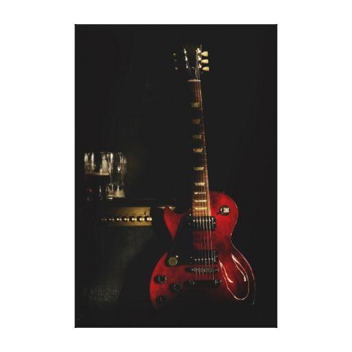 guitar and amplifier big canvas wall art canvas print