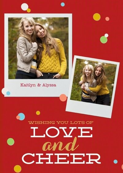 Confetti and Cheer | Personalized Christmas greeting cards from Treat.com