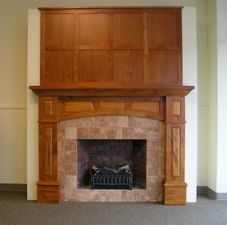 Pinterest for Craftsman style fireplace mantel plans