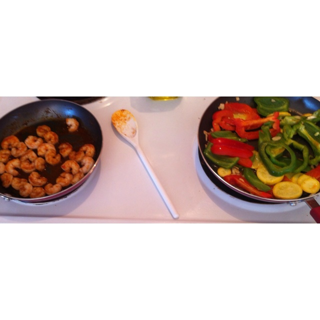 Cajun shrimp and sautéed veggies | Creole/Cajun/Mardi Gras Party | Pi ...
