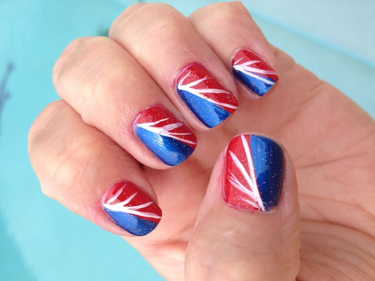 4th of july nails simple