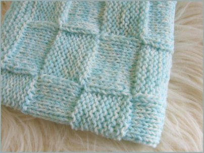 Waffle Knitting Pattern Blanket : Waffle baby blanket
