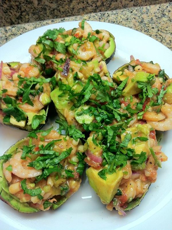 Shrimp stuffed avocados   Foodie Fav's   Pinterest