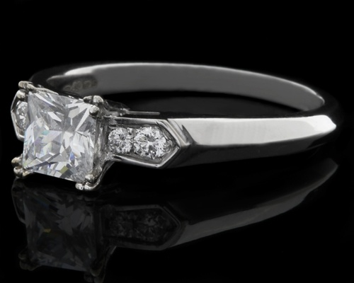 Princess cut engagement rings from Dublin Jewellers. Vintage style ...