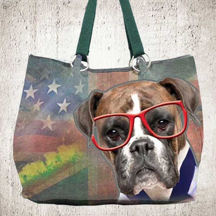 Dog Park Large Tote - Boxer | Cool things I Love | Pinterest
