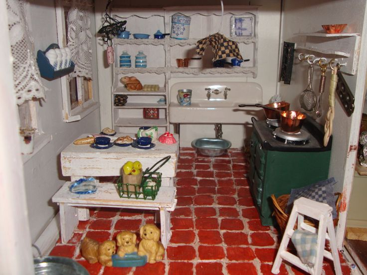 Brocante Keuken Pinterest : Brocante keuken Doll house Pinterest
