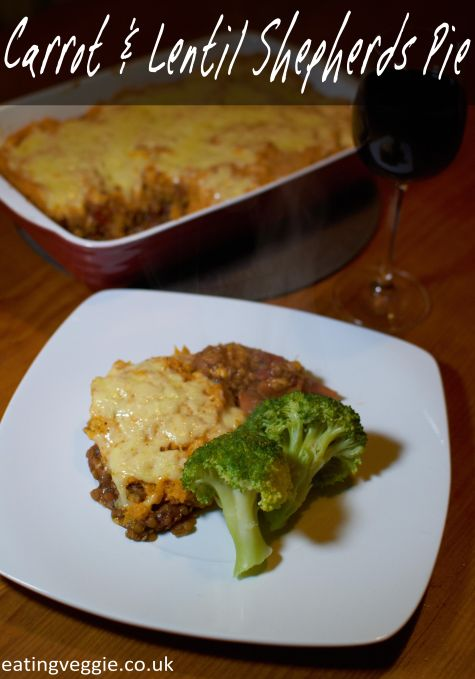 Carrot and lentil shepherds pie with sweet potato mash #vegetarian # ...