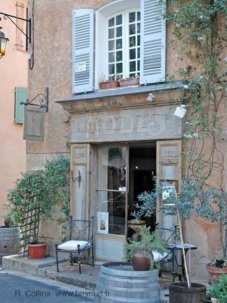 Modes' shop. This old shop now houses a custom shoe maker. Cotignac