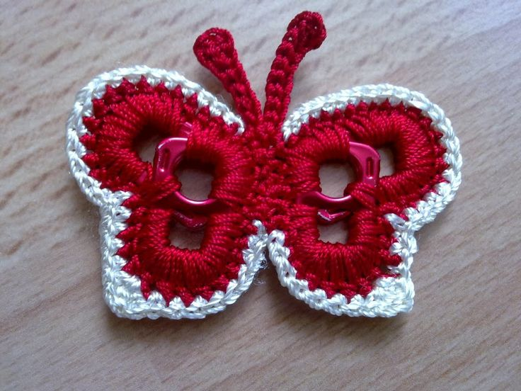 Crocheting With Pop Tabs : Crochet butterfly made around aluminum pull tabs off of soda pop cans ...