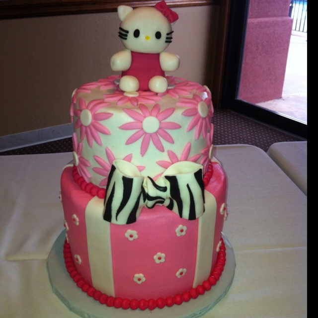 hello kitty baby shower cake babyshowers pinterest