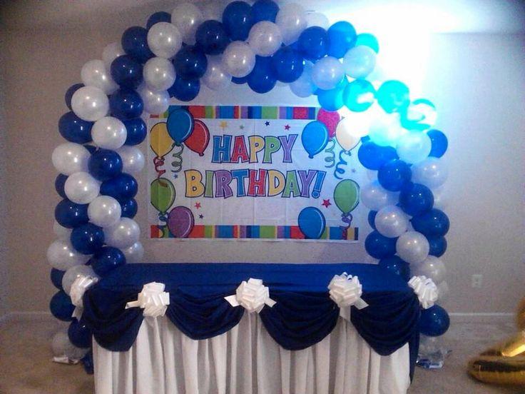 Nanisetc 40th birthday balloon arch balloon decorations for Balloon decoration ideas for 18th birthday