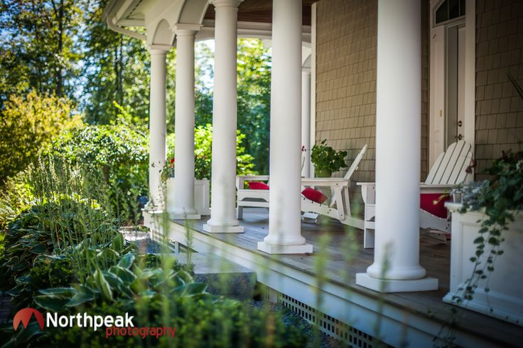Southern plantation style porch with columns home for Plantation columns