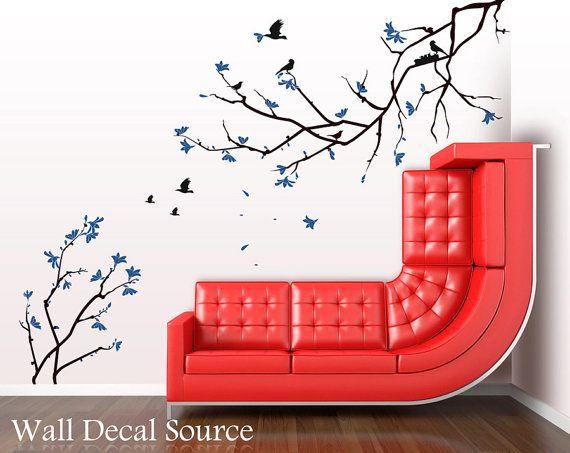 ... Cherry Blossom Sakura Tree Branches - Vinyl Wall Decal on Etsy, $89.00