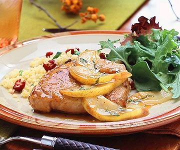 Pork Chops with Pear-Maple Sauce | Recipe