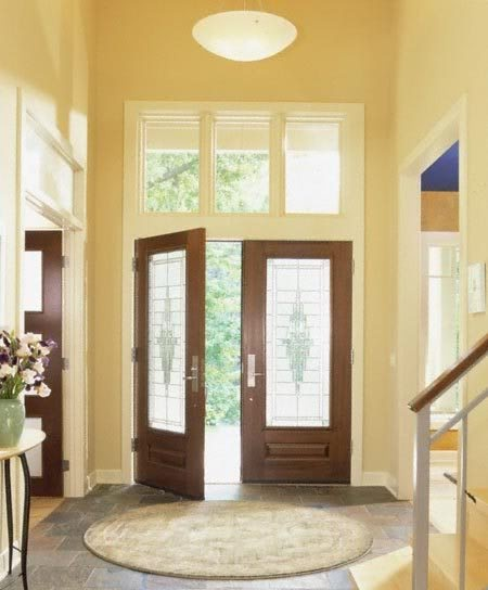 Stained doors with painted trim home sweet home pinterest for Stained or painted trim