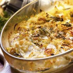 Potato Peel Gratin Recipe:1 C chopped 1/2 red onion, roughly chopped 1 ...
