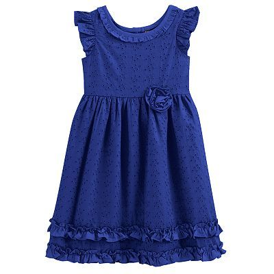 Chaps ruffled eyelet dress girls 4 6x totally in love with this deep