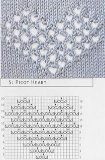 lace heart chart