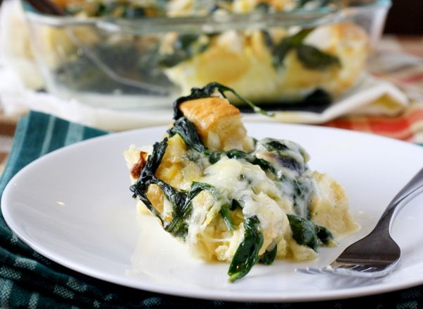 Spinach and Cheese Strata - I've never made a strata, and I do love ...