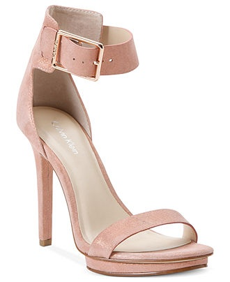 calvin klein s high heel sandals