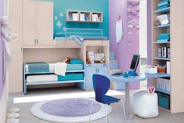 Modern Bedroom Ideas For Teenage Girls Blue And Purple Blended