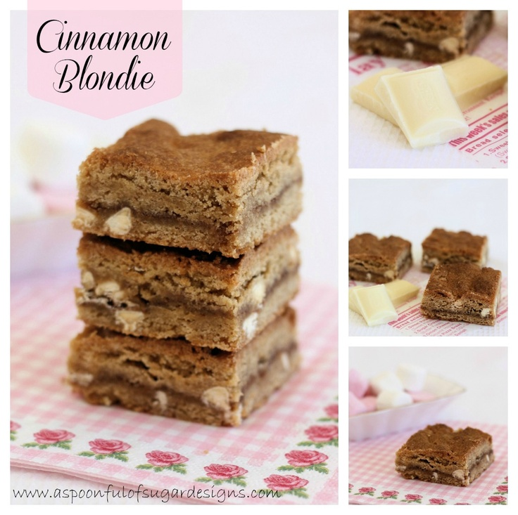 Spoonful of Sugar Cinnamon blondies, sounds lovely for the autumn ...