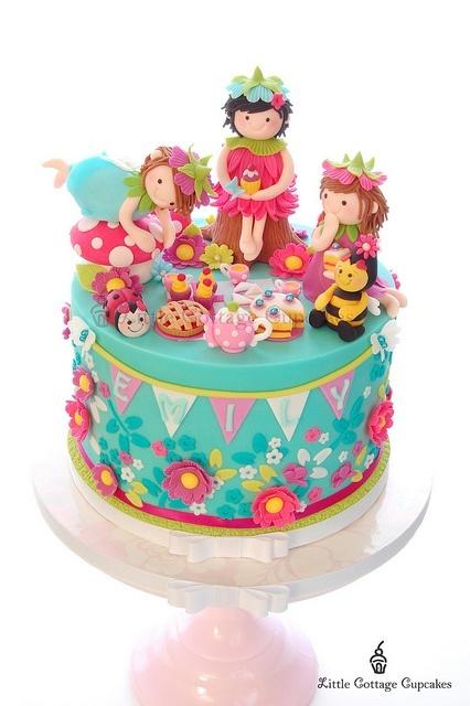 Fairies too cute bake decorate eat repeat pinterest for Fairy garden birthday cake designs