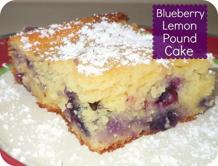 Blueberry Lemon Pound Cake: Confessions of a Semi-Domesticated Mama
